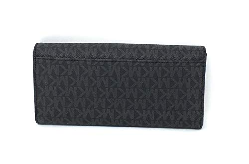 96c96216e3a532 Michael Kors Signature PVC Fulton Flap Continental Wallet- Black by Michael  Kors (Image #