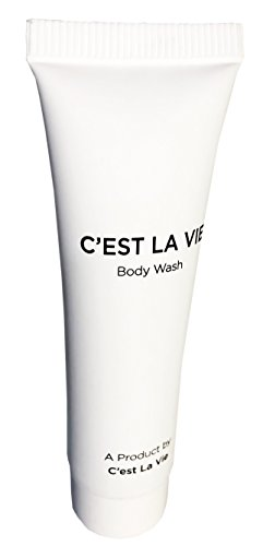 50 Bulk Pack - Fig & Olive Luxury Body Wash By C'EST LA VIE - 22ml / 0.75 fl oz - Travel Guest & Hotel Amenities - Individual Clean White Tubes in Eco Responsible Packaging. Paraben & Cruelty Free  by C'est La Vie (Image #1)