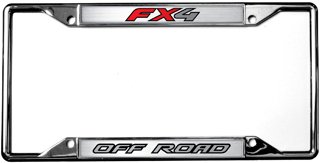 - Ford FX4 / Off Road License Plate Frame