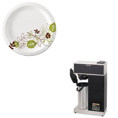 KITBUNVPRAPSDXEUX9WSPK - Value Kit - Bunn Coffee Airpot Coffee Brewer (BUNVPRAPS) and Dixie Pathways Mediumweight Paper Plates (DXEUX9WSPK) by Unknown