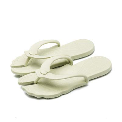 zisheng Women Men Foldable Flip Flops Soft Comfortable Rubber Flip Flop Thong Sandal(women10.5-12/men9-10,Light Green)