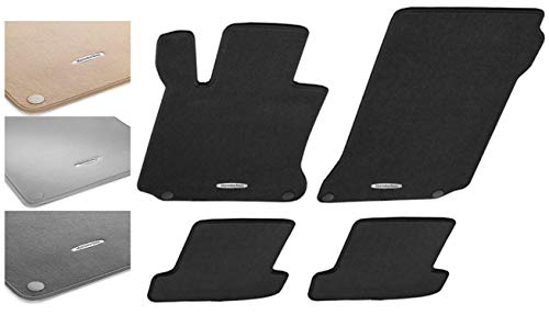 Mercedes Benz OEM Carpeted Floor Mats 2007 to 2013 S-Class S550 S400 S350 S63 S600 (Color:Black)