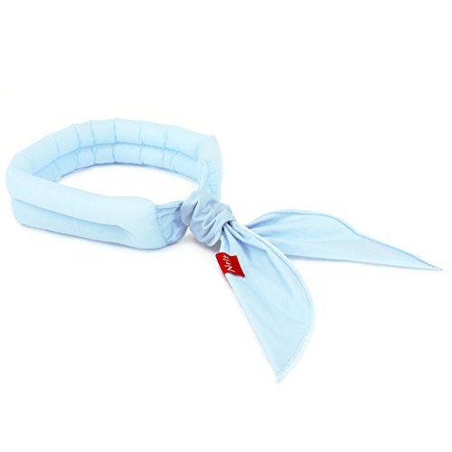 N-rit Cooling Scarf. Wrap a Soaked Tie Around Neck or Head to Instantly Chill Out. Crystal Polymer Technology Keeps Cool & Reusable. Great for Summer, Outdoor Activities & Sports. [Light Blue]