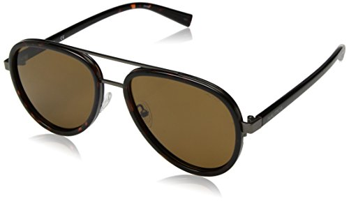 Nautica Men's N4627sp Polarized Aviator Sunglasses, Dark Tortoise, 57 - Sunglasses Nautica