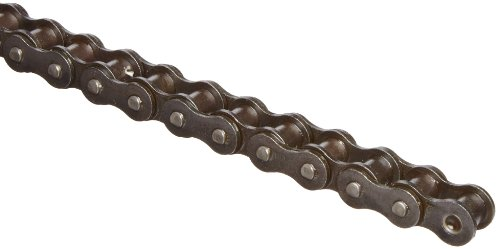(HKK RC040R1A ANSI 40 Single Strand Roller Chain, Riveted, Carbon Steel, 1/2