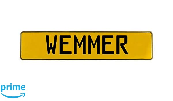 Wemmer Yellow Stamped Aluminum Street Sign Vintage Parts 782286 Mancave Wall Art