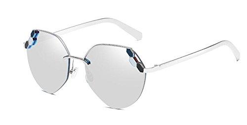 soleil style Lennon rond du polarisées vintage inspirées cercle Blanc Mercure métallique retro en lunettes de 4ax5qXR