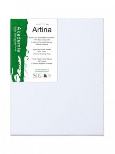 Appr/êt/ée 2 fois Akademie Ch/âssis entoil/é Lot de 10-30x50cm 280g//m/² Toile /à peindre Artina