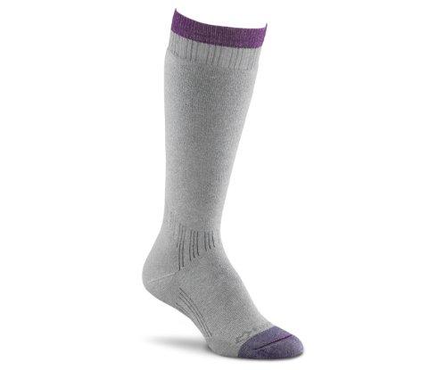 Fox River Women's Her Thermal Boot Knee-High Socks, Grey, Large (Socks River Wool Fox)