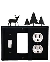Esgo-203 Deer & Pine Trees Switch Gfi Outlet Electric Cover