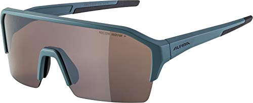 ALPINA RAM HR Q-LITE sportbril voor volwassenen, mat dirtblue, One size