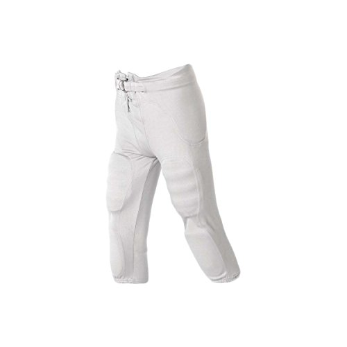 Alleson Athletic Youth Solo Series Integrated Football Pant , White, L ()