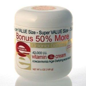 BONUS SIZE Vitamin E Cream 42,000 I.U. - 50% MORE FREE 6 oz. (Pack of 2) by Colonial - Mall Colonial Stores