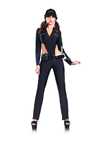 Be Wicked Costumes Women's Swat Sergeant Costume, Black, Medium/Large (Sexy Sergeant Costume)