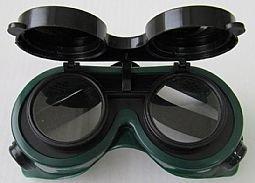 Gafas de Seguridad Laboral Soldar con Lentes abatibles y Cinta elastica, Protectoras Soldadura - Gafa
