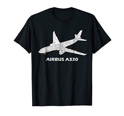 (Airbus A330 jet airplane cutaway aviation pilot T-Shirt gift )