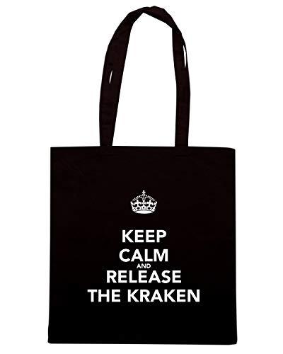 CALM KEEP Shopper AND Shirt Borsa THE Speed KRAKEN TKC3424 Nera RELEASE UBxXYqnw