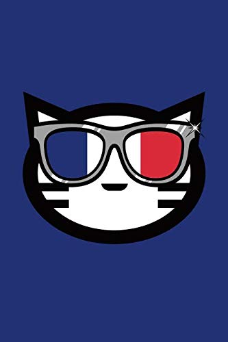 (French Cat: Cat Journal, Diary, Notebook for Cat Lover, Blue, French, Lightly Lined, 110 Pages, Perfect for Notes, Journaling, Mother's Day, Father's Day and Christmas Gifts)