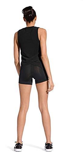 NIKE Womens Pro Intertwist Muscle Tank Top (Black,Medium)