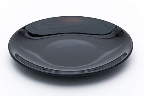 - Fuji Merchandise Black Jade Glossy Melamine Dinner Serving Ware Set of 6 Plates Restaurant Supply Home Use (6, 7