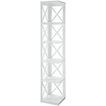 Convenience Concepts Oxford 5 Tier Corner Bookcase White