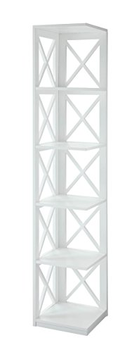 Convenience Concepts Oxford 5-Tier Corner Bookcase, White ()