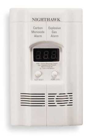 CO/Gas Combination Alarm, Electrochemical