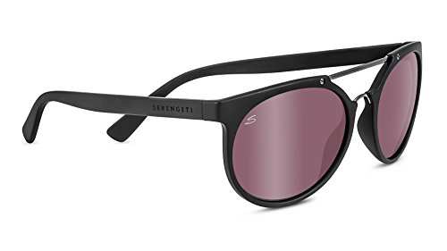 Serengeti 8358 Lerici Polarized Sedona Bi Mirror Sunglasses, Satin Black/Shiny Dark Gun by Serengeti