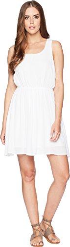 (Stetson Women's 1577 Rayon Crepe Sleeveless Dress White Small)