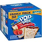 Kellogg's Pop-Tarts Frosted Strawberry Toaster Pastries, 32 toaster pastries