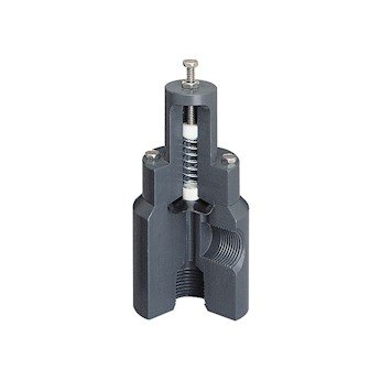 1//4 NPT F Wide-Range Pressure Relief Valve 210 psig max Inlet 1//4 NPT COLE-PARMER AO-01350-64 F PP