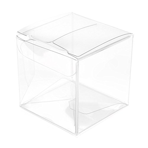 ClearBags 2 x 2 x 2 Small Clear Holiday Gift Boxes | Clear PET Plastic Boxes for Christmas, Weddings, Parties | Party Favor Boxes for Small Ornaments Gifts Candy Cookies | FDA Approved | 25 Boxes ()