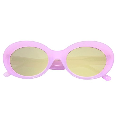 "HIGHKOLT ""Dara Darling"" Oval Sunglasses HK7210 (Cherry Blossom - Luxury Sunglasses Affordable"