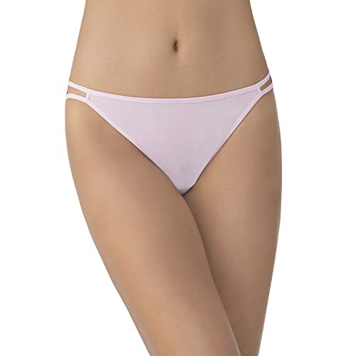 - Vanity Fair Women's Illumination Body Shine String Bikini Panty 18108, Petal, Large/7