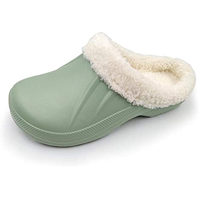ACANS Unisex Fur Lined Clogs Shoes Winter Slippers AC1534