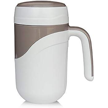 Amazon.com: Tall Ceramic Lined Coffee Travel Mug with Lid ...