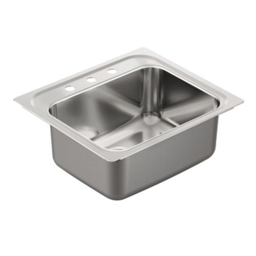 Moen G181953 1800 Series 18 Gauge Single Bowl Drop In Sink, Stainless Steel by Moen by Moen