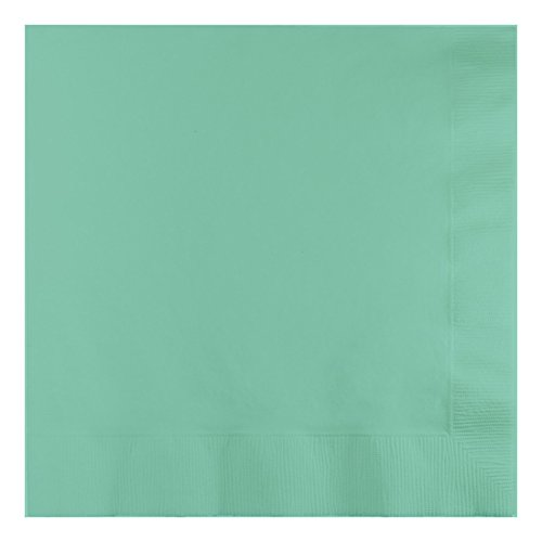 Creative Converting 318889 3-Ply Fresh Mint Fold Dinner Napkin, 8.75