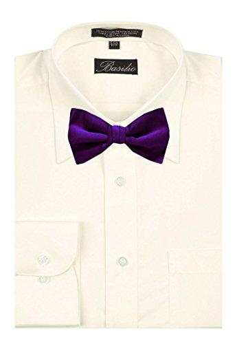 Solid Purple Men's Tie Color Self Bow SgxwAdq