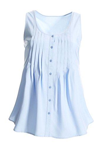 Women's Plus Size Button-Front Maxi Tunic Forever Blue,1X