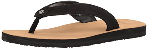 UGG Women's Tawney Flip-Flop, Black, 7 M (Ugg Women Sandals)