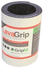 LavaGrip by GripAll. Black aggregate anti-slip product. 6'' x 48''