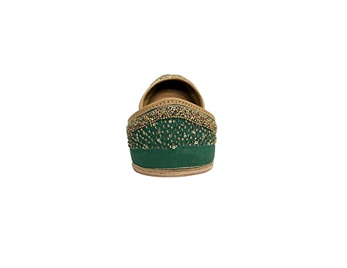 femme Green n Style pour Vert Step Ballerines IaHxq