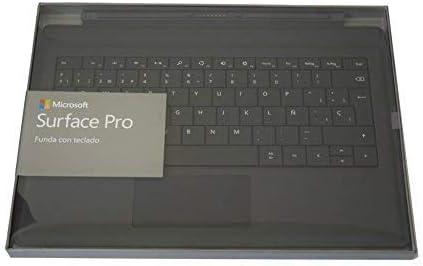 Microsoft Surface Pro Type Cover Teclado para móvil Negro Cover Port - Teclados para móviles (Negro, Mini, Surface Pro 3, Touchpad, Acoplamiento)