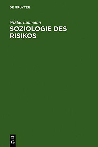 Soziologie des Risikos  [Luhmann, Niklas] (Tapa Dura)