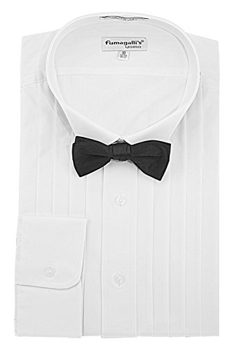 100% Cotton, Wing Collar, Tuxedo Shirt (Big & Tall) with Bow-Tie - - And Tuxedo Big Shirts Tall