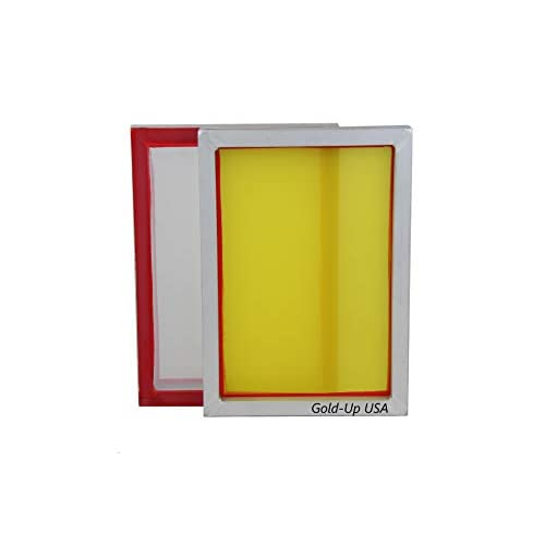 Aluminum Screen Printing Screens 305 Yellow Mesh Size 9 x 20 Pre-Stretched Silk Screen Frame