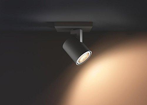 Philips Hue White ambiance Pillar - Foco negro LED, iluminación inteligente, compatible con Amazon Alexa, Apple HomeKit y Google Assistant: Amazon.es: ...