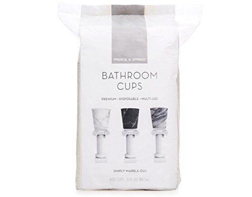 Prince & Spring - Bathroom Cups - 3 oz x 600ct Marble Variety