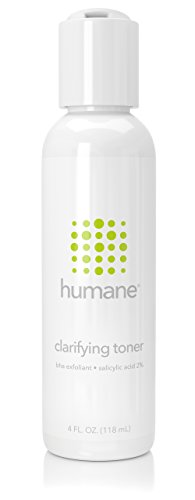 Humane Clarifying Toner BHA Salicylic Acid 2% Pore Minimizer & Facial Exfoliant, 4 Ounce (Best Astringent For Blackheads)